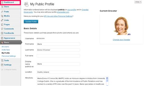 blogger profile how to set up your wordpress profile page write on track