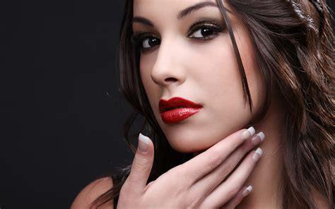 model simple background women brunette dark eyes face