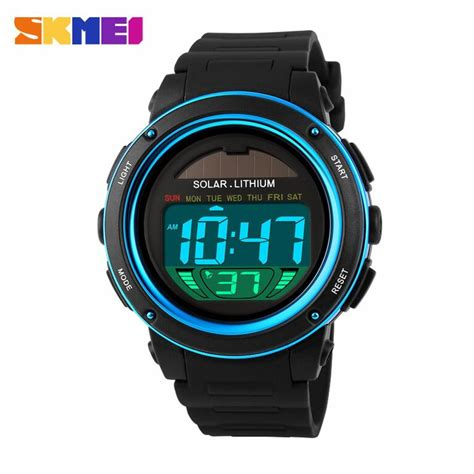 Jam Skmei 1129 Solar Power Hitam jual jam tangan pria skmei digital led solar power