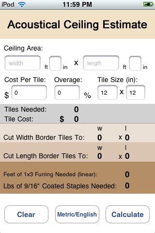 acoustic ceiling estimate