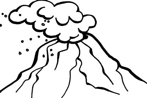 volcano outline clipart best