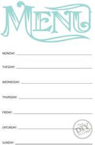 free printable menu templates for free printable weekly menu planner the diy