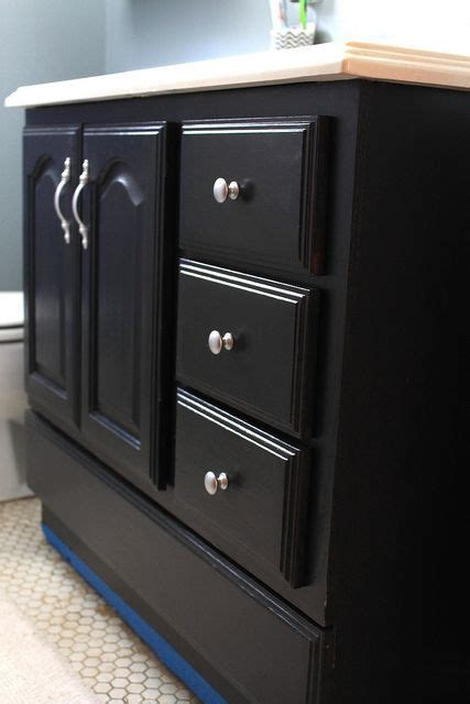 Black Bathroom Cabinet Bathroom Vanity Makeover With Chalk Paint Paint Bathroom Vanities Bathroom Vanity Makeover