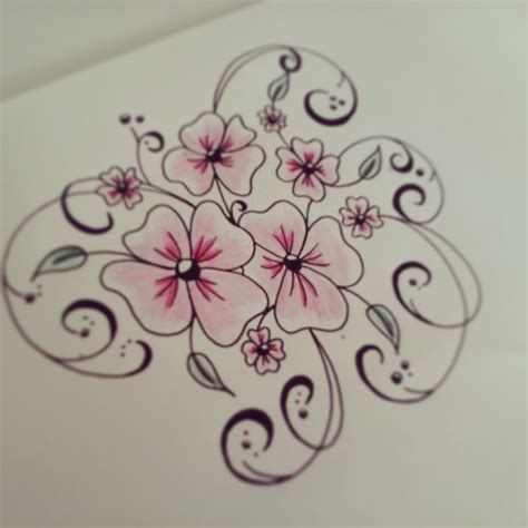 how to tattoo for beginners how to draw flowers for beginners easy version