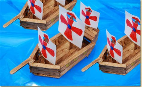 origami longboat video wood stick ship craft project ideas james fort project