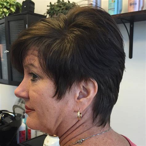 women haircut tapered neck behind ear 90 classy and simple short hairstyles for women over 50