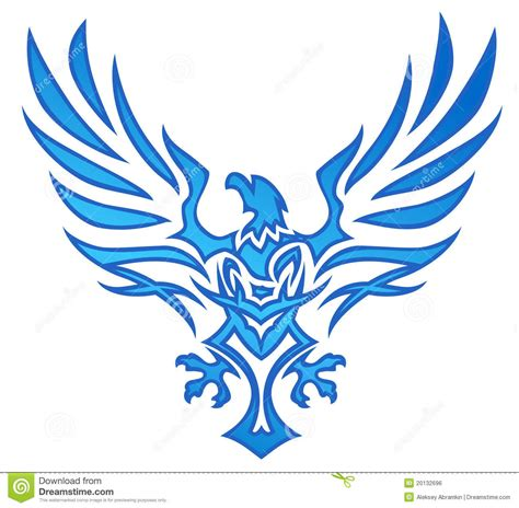 blue flame eagle tattoo royalty free stock image image
