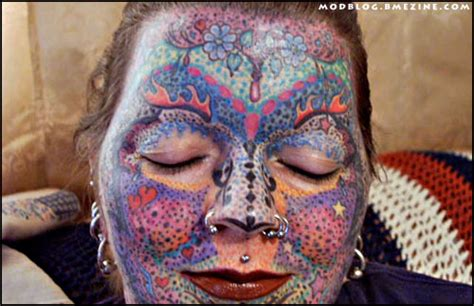 full body and face tattoo female full facial tattooing bme tattoo piercing and