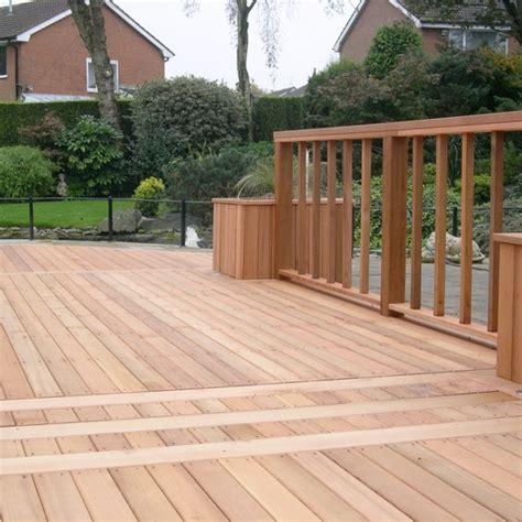 terrassen aus holz 3111 cedardeck clear western cedar decking silva timber