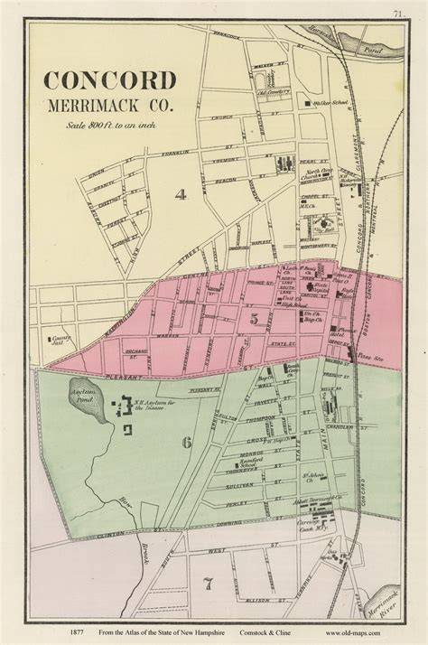 concord nh map maps of concord nh