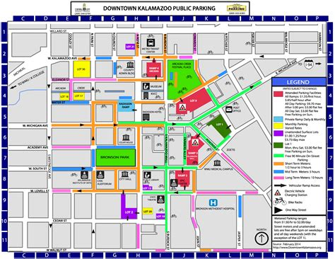 downtown map downtown kalamazoon parking map ribfest kalamazoo michigan