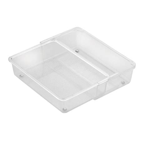 Linus Drawer Organizers by Interdesign Linus Expandable Drawer Organizer In Clear 63230 The Home Depot