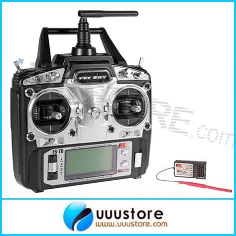 Flysky Fs6 T6 6ch 6 Channel 24ghz Remote Transmitter flysky fs t6 rb6 fs 2 4ghz rc helicopter transmitter 6ch 6 channel radio mode 2 in parts