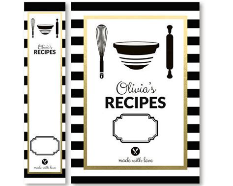 printable recipe binder covers recipe binder cover and spine insert set from
