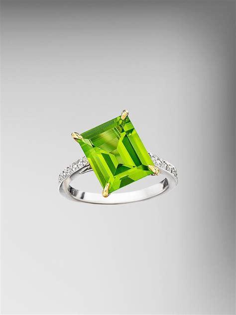 peridot emerald cut ring green my favorite color