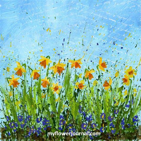 acrylic painting near me daffodil doodles in 4 easy steps my flower journal