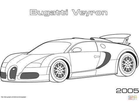 coloring pictures of supercars 2005 bugatti veyron kleurplaat gratis kleurplaten printen