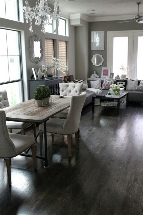 Decorating Living Room Dining Room Combo Veronika S Blushing Rustic Contemporary Dining Living