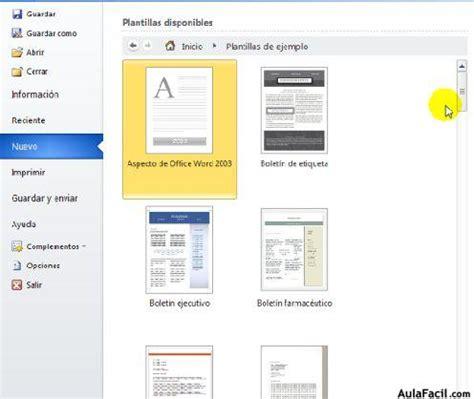 Plantilla De Curriculum Word 2010 Curso Gratis De Word 2010 250 Archivo Nuevo Aulafacil Los Mejores Cursos Gratis