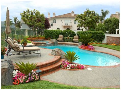 backyard pool landscaping ideas pool landscape ideas on pinterest pool fence pergolas