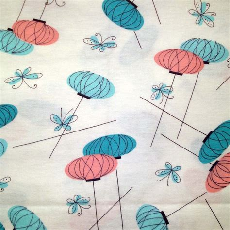 eames pattern fabric 1950s vintage cotton fabric eames era lanterns and