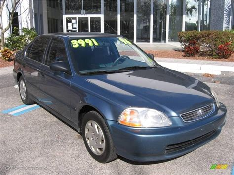 1996 Honda Civic Sedan by 1996 Cyclone Blue Metallic Honda Civic Lx Sedan 1855701
