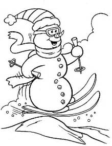 snowman coloring 7 snowman coloring pages for