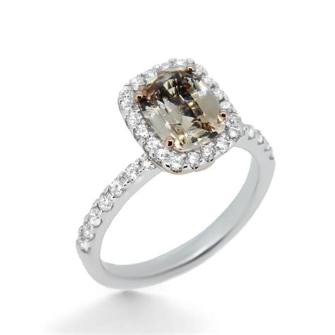 chagne sapphire engagement ring haywards bespoke