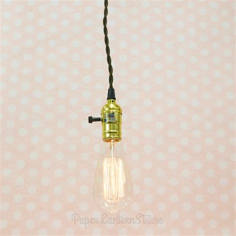 Single Gold Socket Vintage Pendant Light Cord W Dimmer Cord Pendant Light