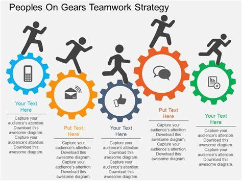 Rm Peoples On Gears Teamwork Strategy Flat Powerpoint Design Powerpoint Templates Designs Teamwork Ppt