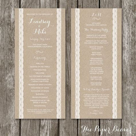ceremony cards templates best 25 wedding ceremony program template ideas on
