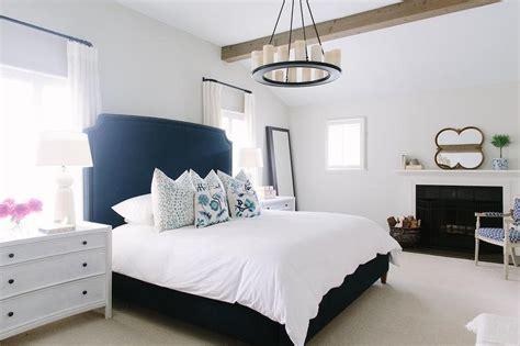 white  navy bedroom  fireplace contemporary bedroom benjamin moore classic gray
