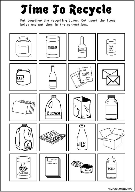 kindergarten activities recycling time to recycle earth day worksheet april earth day