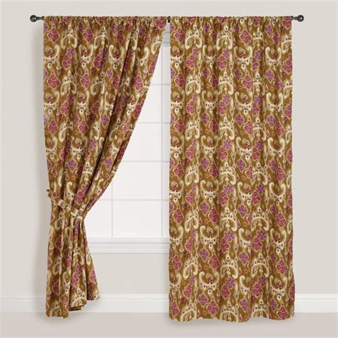 worldmarket curtains heirloom floral curtain world market bedroom