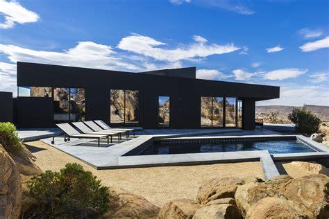 all black house the black desert house by marc atlan oller pejic ignant com