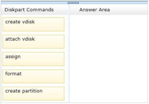 diskpart format refs which order should you run the diskpart commands answer
