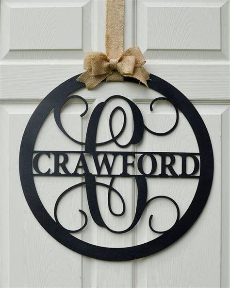 Initial Door Hangers by 17 Best Ideas About Monogram Door Hangers On