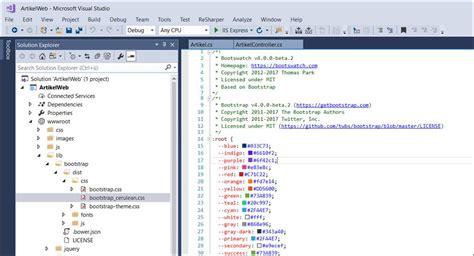 theme templates for asp net asp net core 2 mvc install bootstrap css theme codedocu