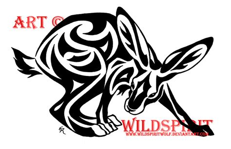 rabbit tribal tattoo designs tribal hare design by wildspiritwolf on deviantart