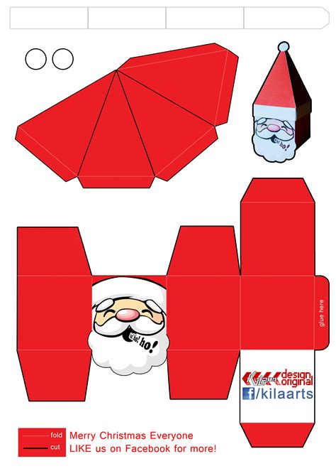 santa claus paper craft santa papercraft by dfordesmond on deviantart