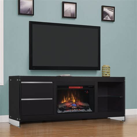 Entertainment Center With Electric Fireplace Biscayne Electric Fireplace Entertainment Center In Black