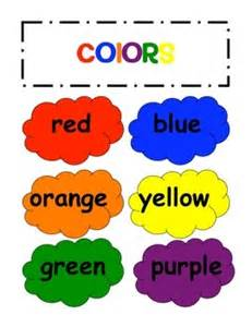 words for colors file folder for teaching colors