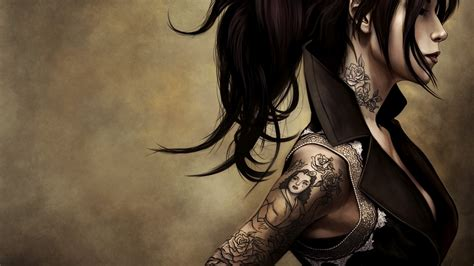 free tattoo girl wallpaper tattoos wallpapers best wallpapers