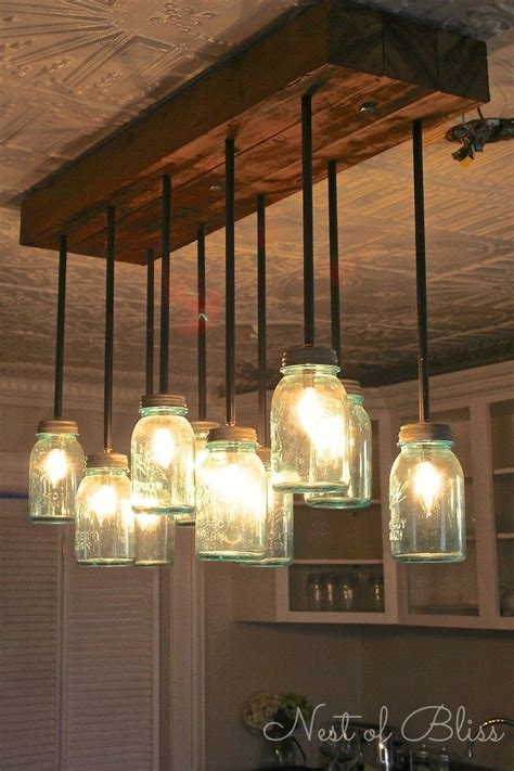 diy kitchen lighting ideas best 25 jar chandelier ideas on