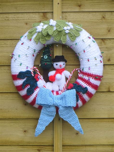 christmas wreath crochet patterns page