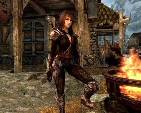 skyrim unpb huntress armor skyrim nexus mods and community