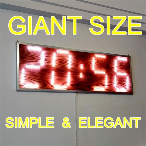 Bigsizr Jumbo Brie 1 aliexpress buy large big size led digital wall clock one meter 39 inches