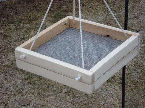 hanging platform bird feeder by nestboxbyspecies on etsy