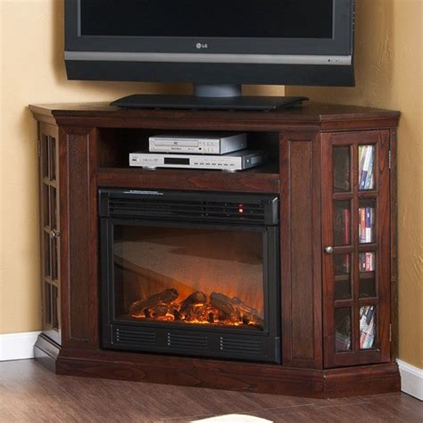 Storage Shelves Costco by Bismark 50 Quot Tv Stand With Electric Fireplace Modern