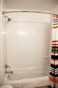 White Subway Tile In Bathroom - bathroom makeover with a faux subway tile surround